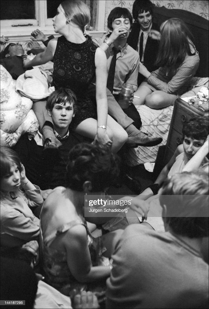 A student party at Birmingham University, UK, 1972.