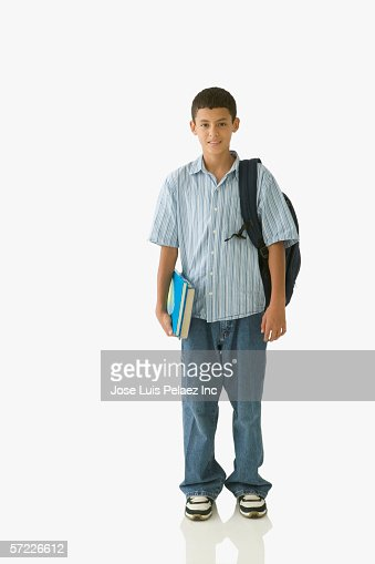 Student posing for the camera with backpack