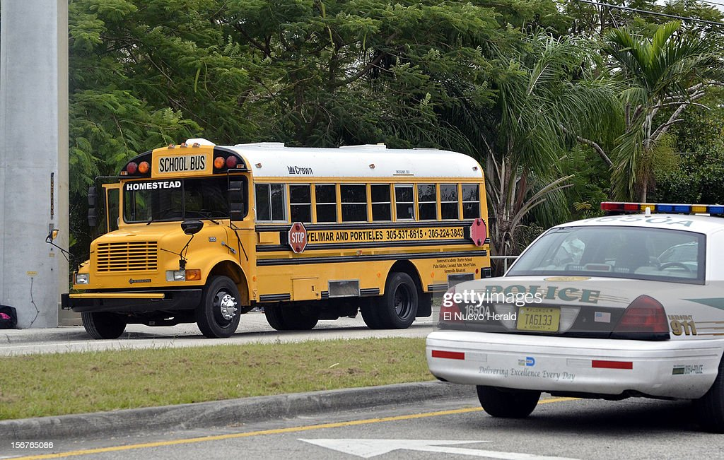 A student shot and killed a 13-year-old girl in front of her younger sister and seven other children on a school bus Tuesday morning, November 20, 2012, in Homestead, Florida.