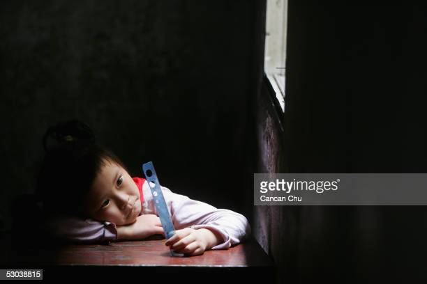 Student take a noon break at Lingzhi Primary School on June 8 2005 in Wuhan Hubei Province of China The school was founded in 1999 and now has 406...