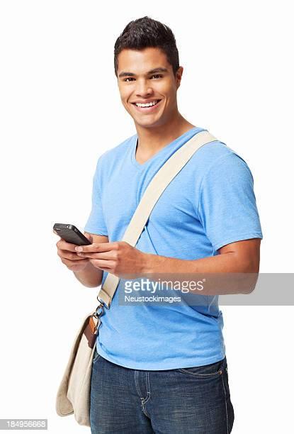 Étudiants à envoyer des SMS sur un téléphone portable