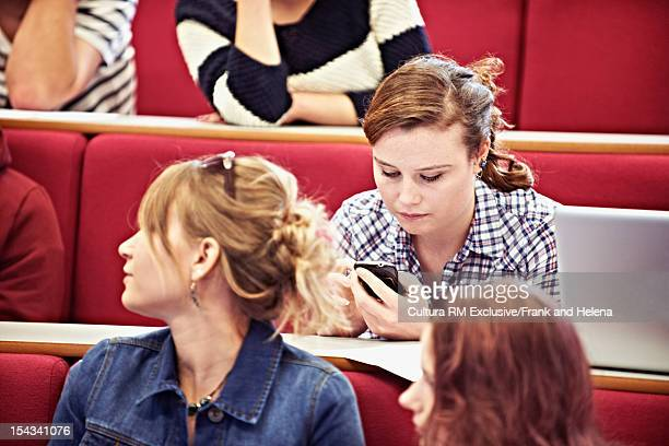 Student using cell phone in class