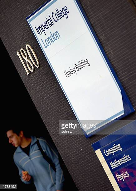A student walks out of the Huxley building of Imperial College London in Kensington London January 22 2003 in London The future of student fees and...