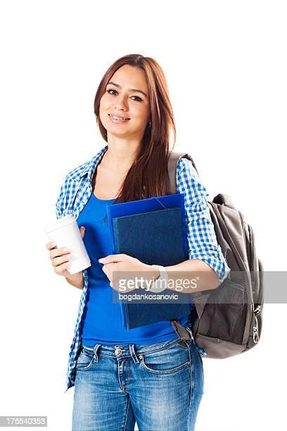 Student mit Kaffee
