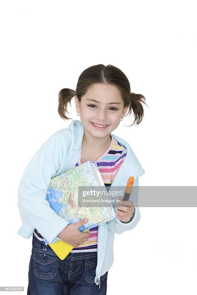 Student with textbook : Bildbanksbilder