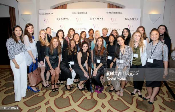 Students and Cal State University Northridge Students pose with the Visionary Women Executive Board Members during the Visionary Women's Salon Mind...