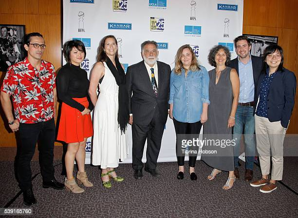 Students and Francis Ford Coppola attend the 25th annual UCLA School of Theater Film And Television Film Festival's MFA Director's Spotlight honoring...