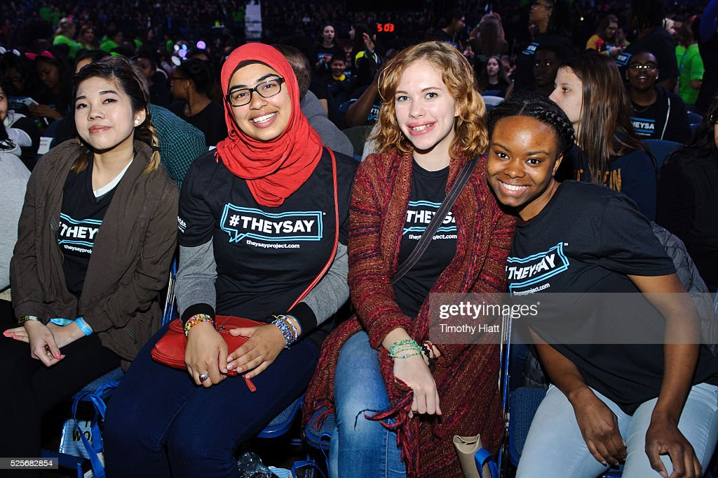 Students and teachers attend at WeDay in Illinois at Allstate Arena on April 28, 2016 in Chicago, Illinois.