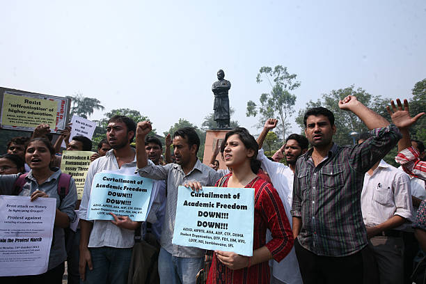 Protest Against Dropping Of Essay By Ramanujan Pictures  Getty Images Protest Against Dropping Of Essay By Ramanujan Example Proposal Essay also Essay About Learning English  Essay Health Care