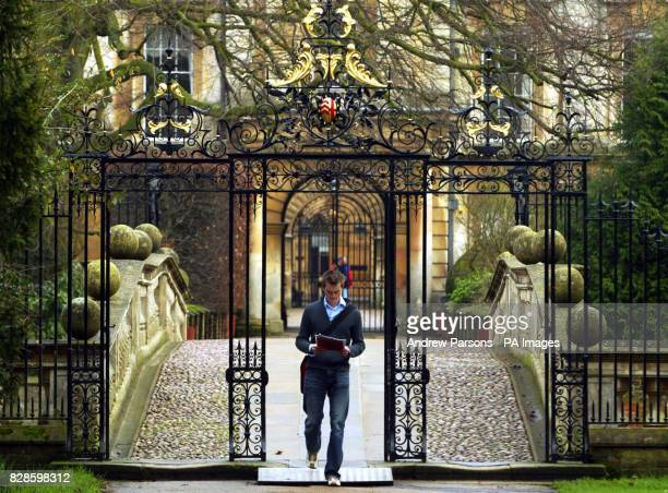 Students arrive for lectures at Clare College Cambridge the day higher education finance reforms announced students can expect to leave university...