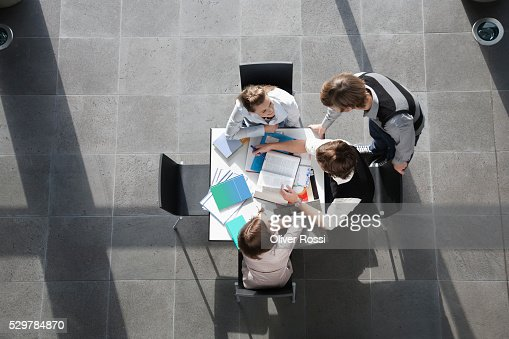 Students at table in University : Stock Photo