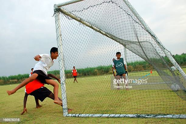 Students at the Football Academy of Thailand practice in one of their two daily sessions The first professional of its kind in Asia the academy was...