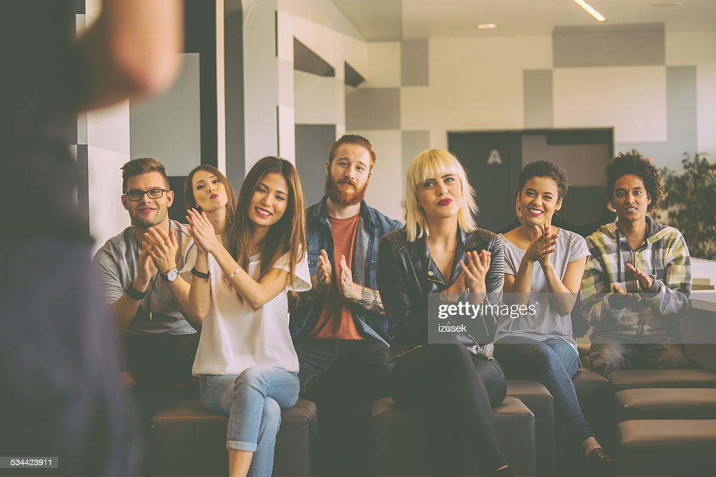 Students at the lecture : Stock Photo