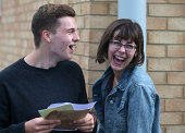 Students at the Winterbourne International Academy react as their Alevel results on August 14 2014 in South Gloucestershire near Bristol England...