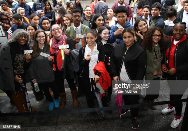 Students attend The Rockefeller Foundation and The Gilder Lehrman Institute of American History sponsored High School student #EduHam matinee...