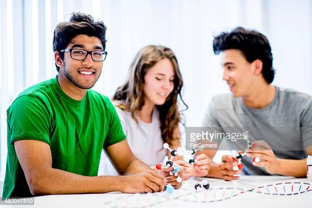 Studenten Gebäude Molekülstruktur