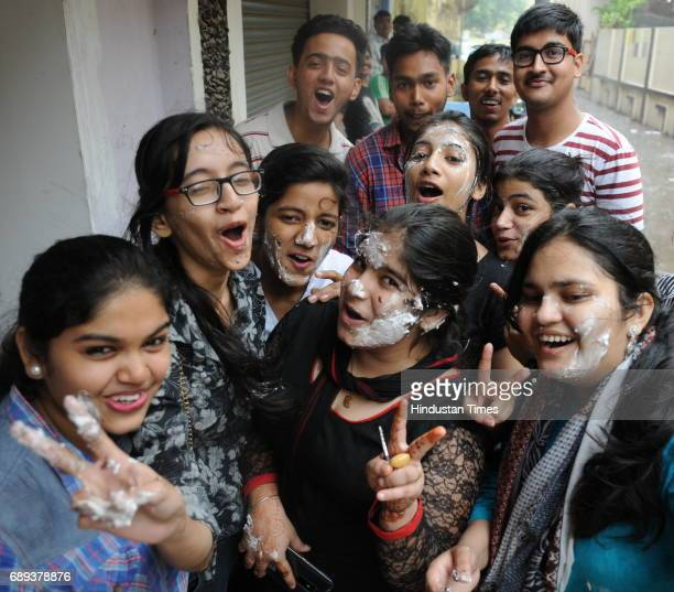 Students celebrate after the class 12th CBSE result announced on May 28 2017 in Patna India A total of 19397 students from Classes 10 and 12 have...