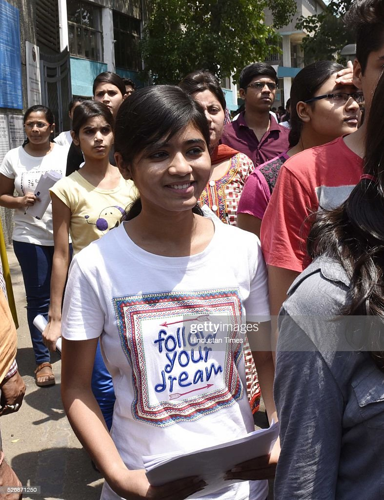 Students coming out after appearing for 'National Eligibility Entrance Test' (NEET) exam for admissions to MBBS and BDS courses, at DPS School R K Puram, on May 1, 2016 in New Delhi, India. The Supreme Court had on Saturday said that the entrance test for admission to MBBS and BDS courses for the academic year 2016-17 will be held as per the schedule through the two-phased common entrance test NEET on May 1 and July 24.