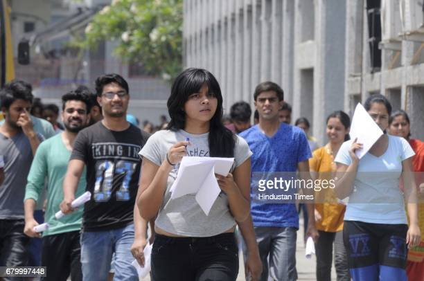 Students coming out after appearing the CBSE National EligibilityCumEntrance Test medical entrance exam on May 7 2017 in Noida India The National...