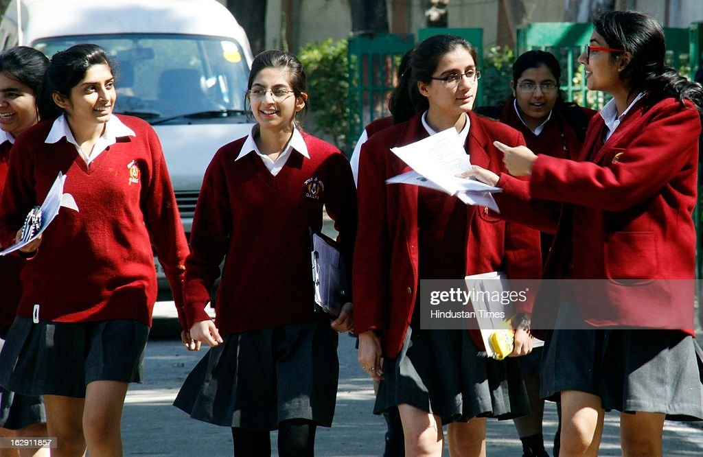 Students coming out after giving their Central Board of Secondary Education (CBSE) Board Examinations on March 1, 2013 in Gurgaon, India. Over all 22 lakh students are appearing for their exam for Class X and XII this year.
