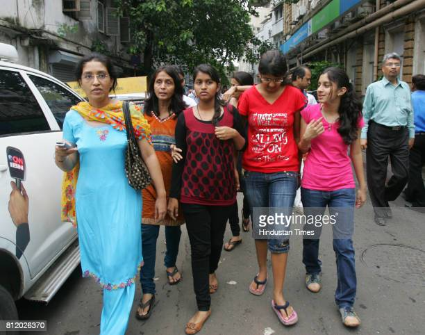 Students coming out High Court for hearing of percentile case in Mumbai on Monday