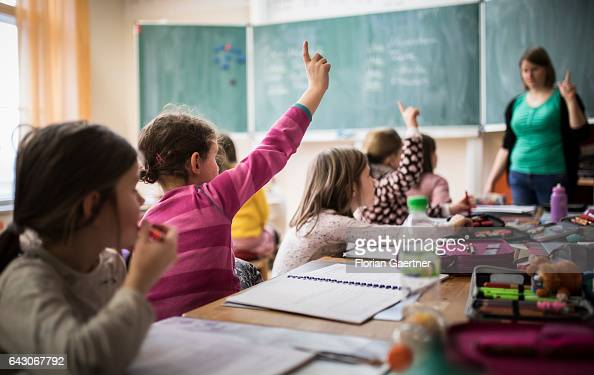 Students during a lesson Feature at a school in Goerlitz on February 03 2017 in Goerlitz Germany