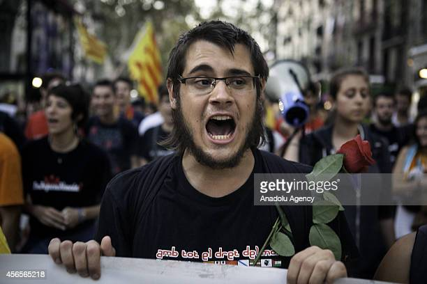 'Students for 9N' a platform of several students organizations protest to demand of the Catalans right to vote in defense of Independence Referendum...