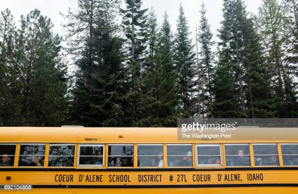 Students from Lake City High School in Coeur d'Alene Idaho visit Farragut State Park in Idaho to learn about the effects that trees have on the...