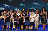 Students from the 3rd grade class at WR O'Dell Elementary School of Concord North Carolina lead the Pledge of Allegiance during day one of the...