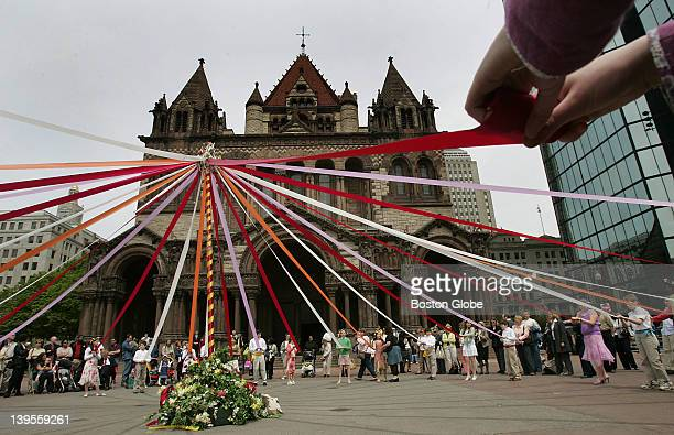 Students from The Learning Project Elementary School grades 16 on Marlborough Street Boston performed a song and dance around a maypole for Mayfest...
