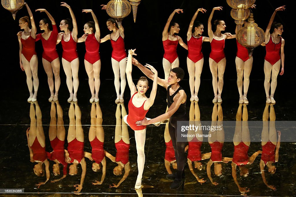 Students from the School of American Ballet perform on satge during the after party for the School of American Ballet 2013 Winter Ball at David H. Koch Theater, Lincoln Center on March 11, 2013 in New York City.