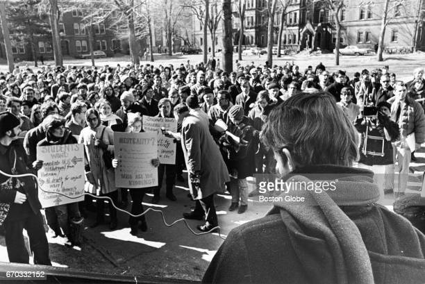 Students gather for a peaceful antiVietnam War sitin at Harvard University in Cambridge MA on Feb 23 1968