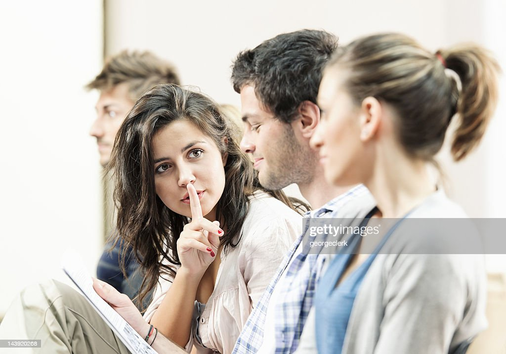 Students in a Lecture - Shhh! : Stock Photo