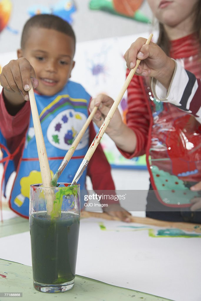 Students in art class : Stock Photo