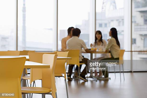 Students in canteen