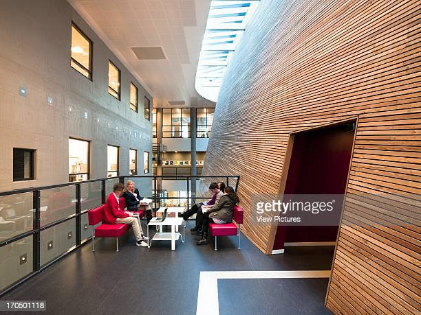 Students in communal area studying Vagen Videregaende Skole Academy School Europe Norway Link Arkitektur AS