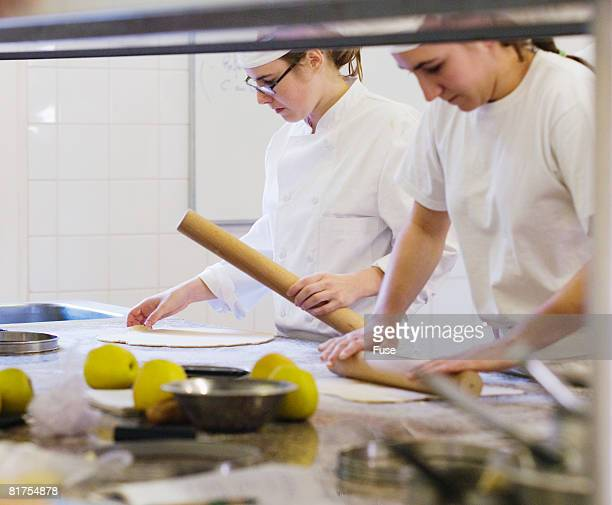 Students in Culinary School Baking Class