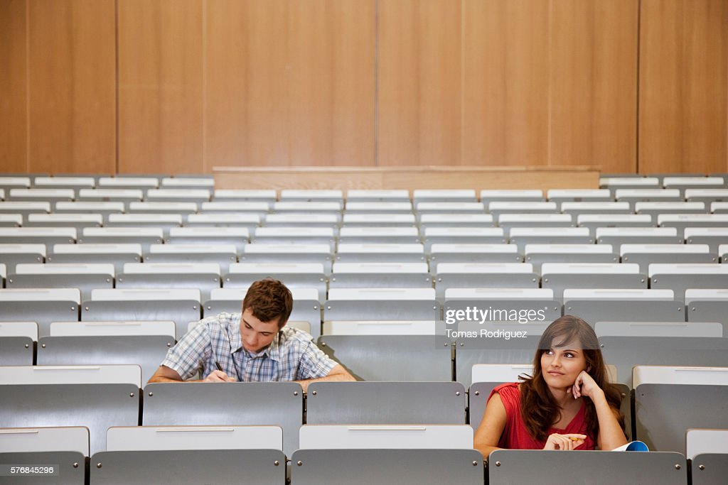 Students in lecture hall : Stockfoto
