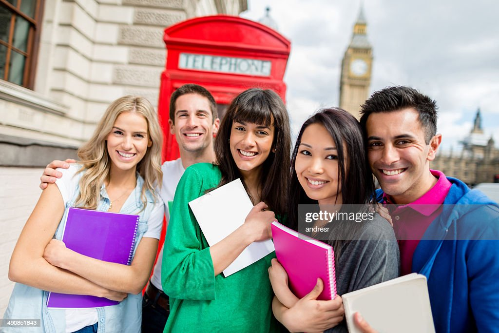 Students in London : Stock Photo
