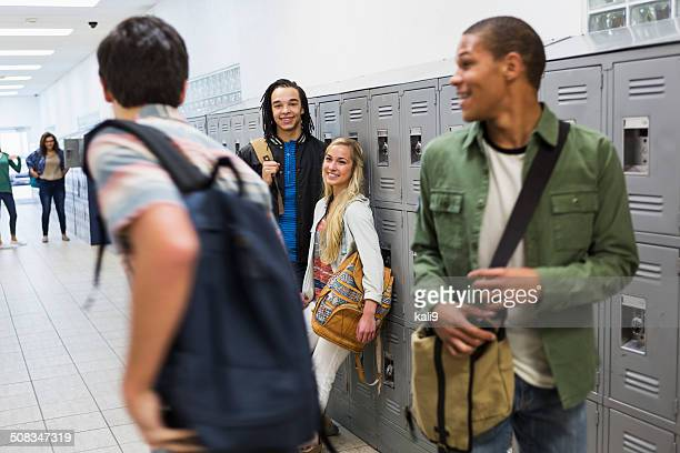 Students in school hallway