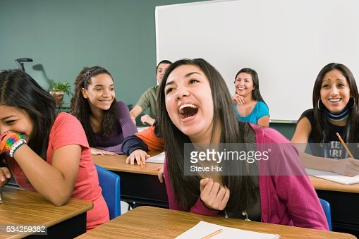 how to stop laughing in class
