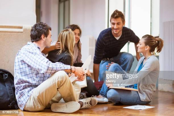 Students learing together in University