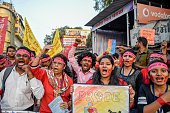IND: Valentine's Day: Students Participate In Rally Against Violence On Women
