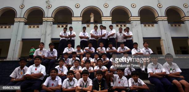 Students of Don Bosco School who conducted Zero garbage project in Mutunga Mumbai