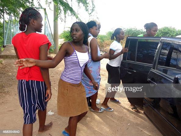 Students of the Moi University leave after escaping an attack by Somalia's AlQaedalinked Shebab gumen in Garissa on April 2 2015 Shebab gunmen seized...