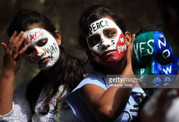 Students of various colleges and NSS volunteers of SNDT University and University of Mumbai participate in a peace rally to mark the anniversary of...
