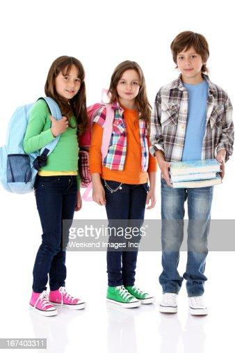 Gli studenti : Foto stock