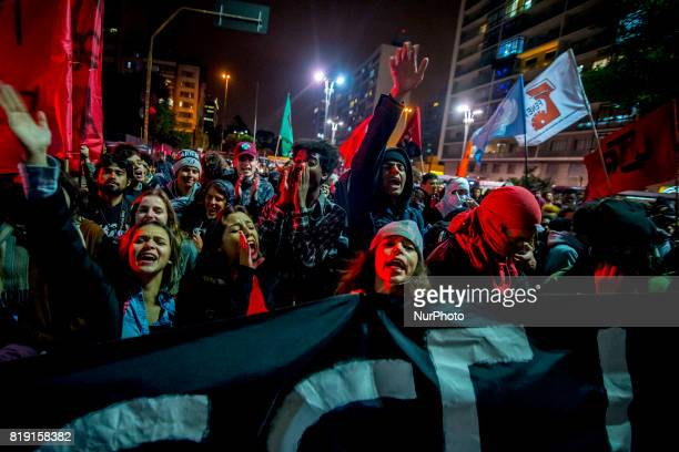 Students protest against the restriction imposed by the City of São Paulo in the use of the Free Student Pass benefit The act was convened by the...