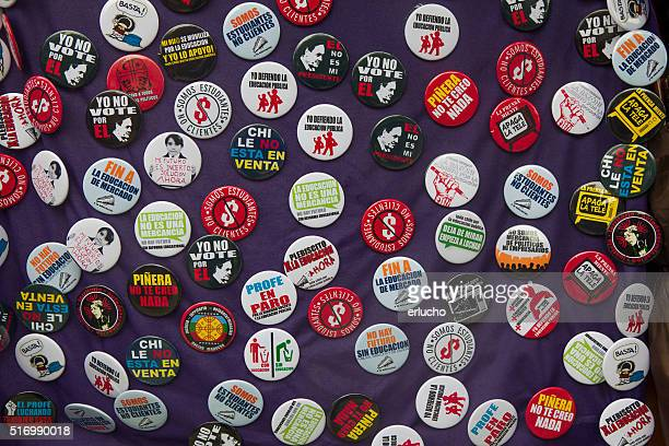 Students protests button badges