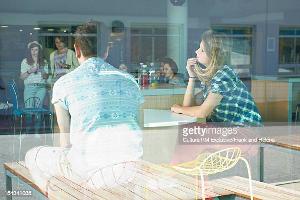 Students sitting together in cafeteria